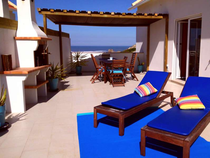 Zeezicht Portugal - vakantie strandappartement Solmar terras view