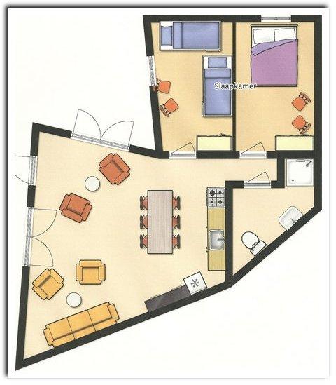 Vrijstaand vakantiehuis Zilverkust - Casa no Pomar floorplan