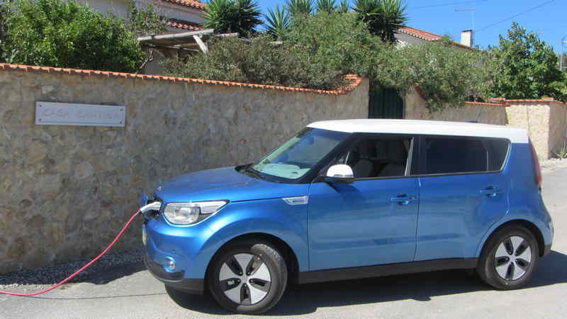 Kia Soul EV experience Casa Cantiga holiday accommodations