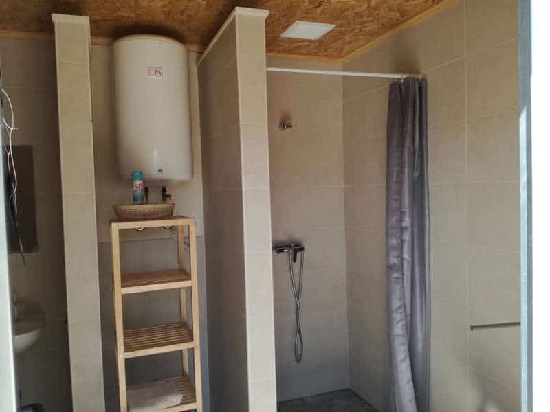 glamping private bathroom 1