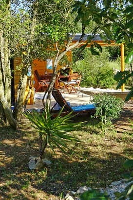 glamping portugal with kids at small holiday park with heated pools