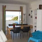 strand vakantie appartement zilverkust Portugal dichtbij Nazaré _living