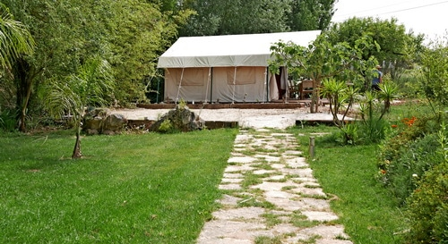 glamping Portugal na Quinta do Carmo side view