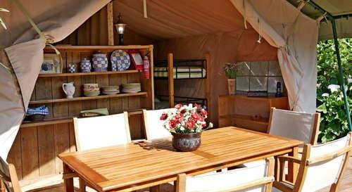 Glamping_Campismo glamoroso perto Nazaré_tenda bambu