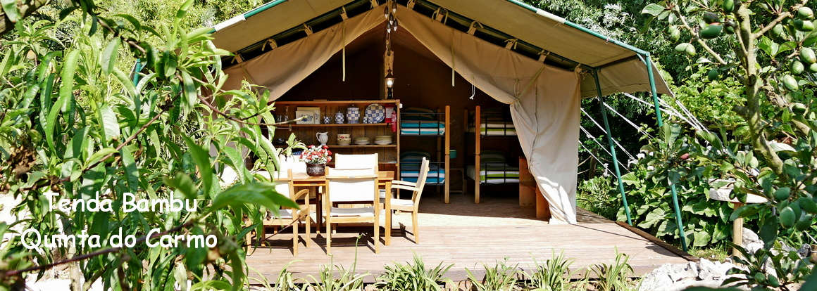 holiday glamping tent bambu Mid Portugal safari style